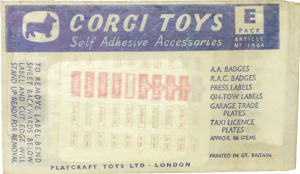 Self adhesive accessories E pack Corgi-Toys