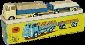 ERF camion à ridelles avec remorque plateforme et chargement Coffret cadeau Corgi-Toys GS11