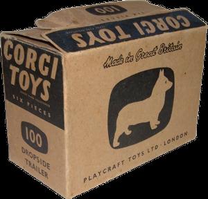 Carton de 6 remorques à ridelles Corgi-Toys