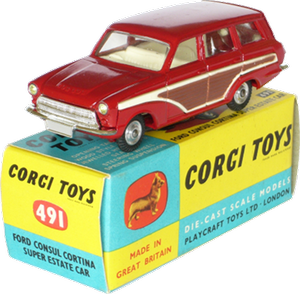Ford Consul Cortina super estate car Corgi-Toys