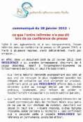 Communiqué RESILIENCE du 28 janvier 2012  :  ce que l'ordre infirmier n'a pas dit  lors de sa conférence de presse Mini_1201281205101139709358124