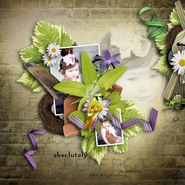 page kit little garden by wendyp design