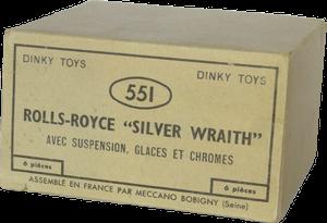 Boîte revendeur pour Rolls-Royce Silver Wraith Dinky-Toys