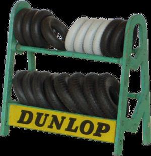 Rack de pneus Dunlop Dinky-Toys.