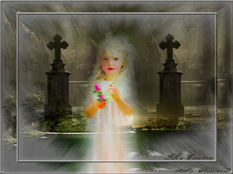 l'enfant au cimetière