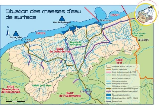 Driehoek Calais Sint-Omaars Duinkerke onder water? 1202171025321419619450024
