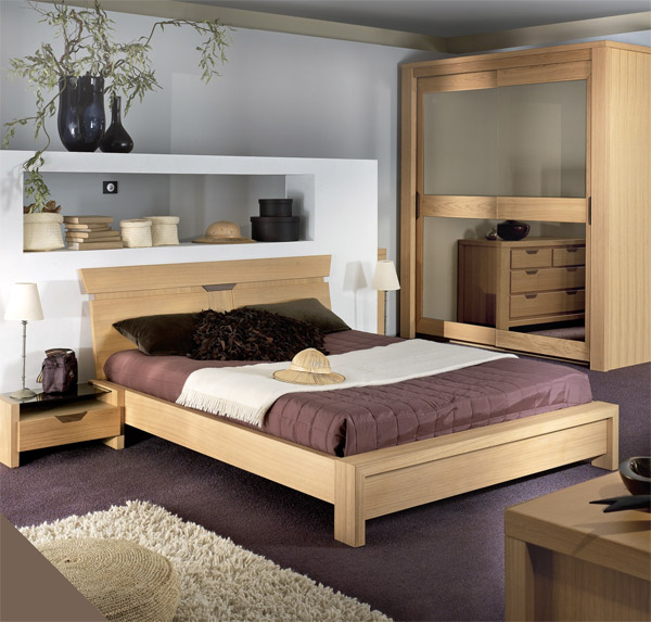 Chambre A Coucher En Bois | Décoration De Maison Contemporaine