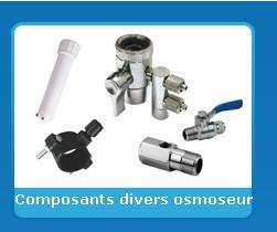 Composants divers osmoseur