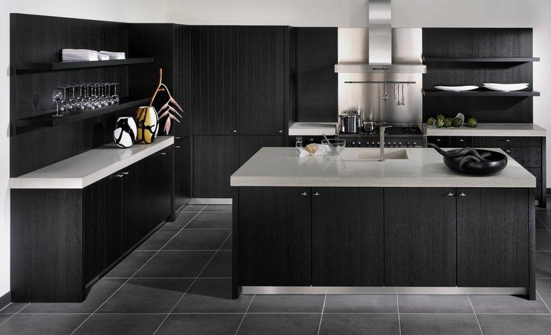 Carrelage noir cuisine salon carrelage noir brillant 52 for Carrelage noir cuisine