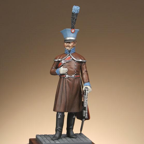 Hussards suite: Officier du 2ème Régiment en redingote. 120302014020359349519966