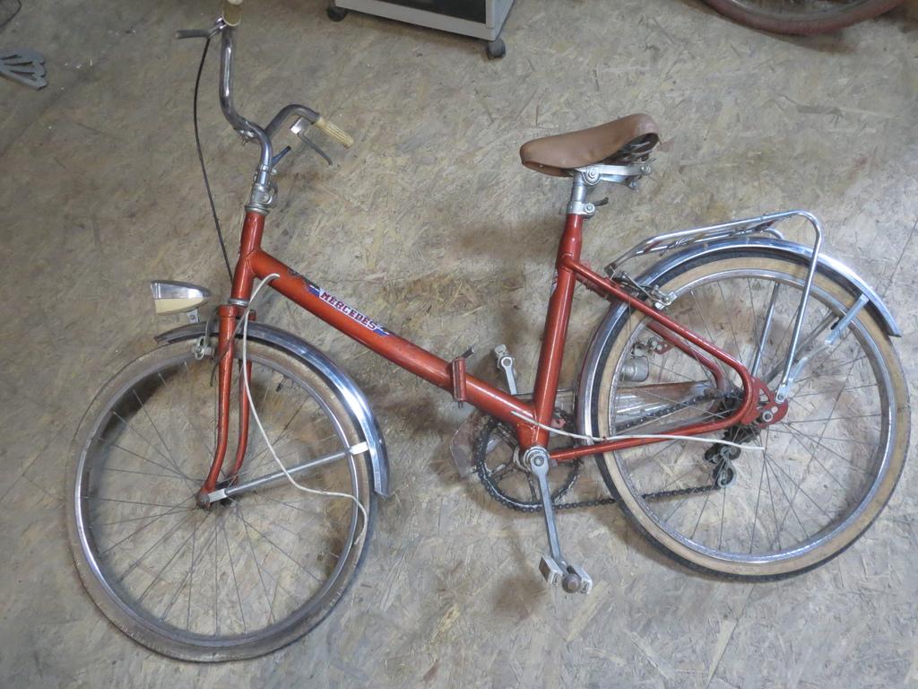 Antique child bike folding mercedes vintage to revise old for Mercedes benz folding bike