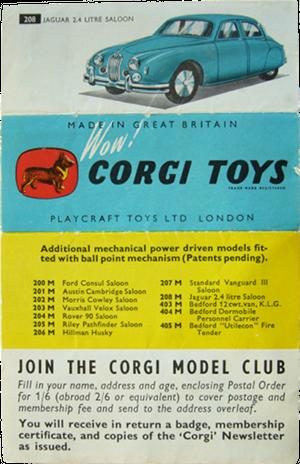 Dépliant Corgi-Toys 1957