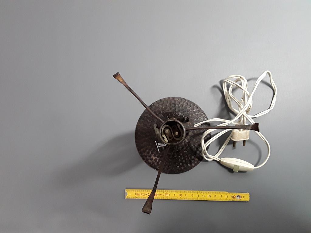 ancienne lampe de chevet en fer forg pour lustre pate de verre design 20 me ebay. Black Bedroom Furniture Sets. Home Design Ideas