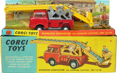 Working Conveyor on forward Control Jeep Corgi-Toys