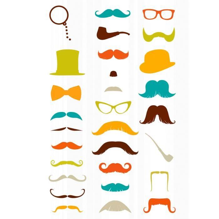images graphistes - sachet-une-planche-de-gommettes-en-3d-moustaches