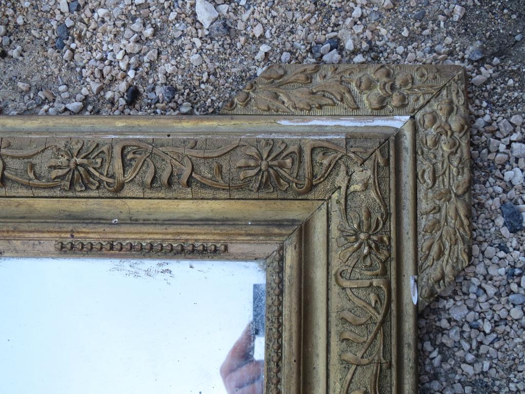 Antico specchio cornice legno e in gesso dorata vintage francese antico mirror ebay - Specchio dorato antico ...