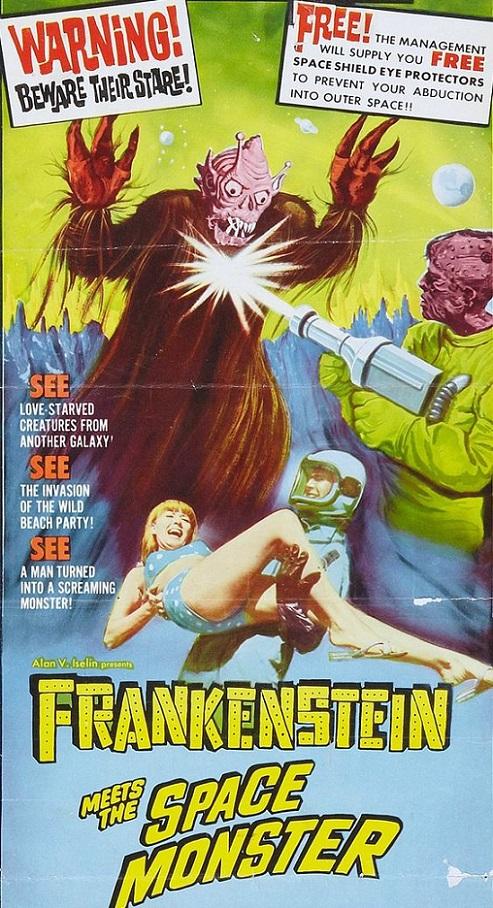 POSTEROÏDE - Frankenstein meets the space monster dans Cineteek 17061310272215263615091540