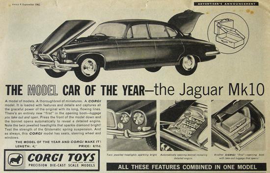 Publicité Jaguar Mk X Corgi-Toys