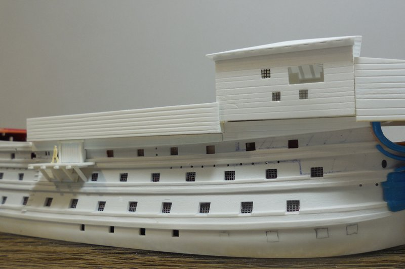 Un ponton prison anglais de la Révolution ou de l'Empire 1/200 sur base HELLER - Page 4 17070607394123099315135060