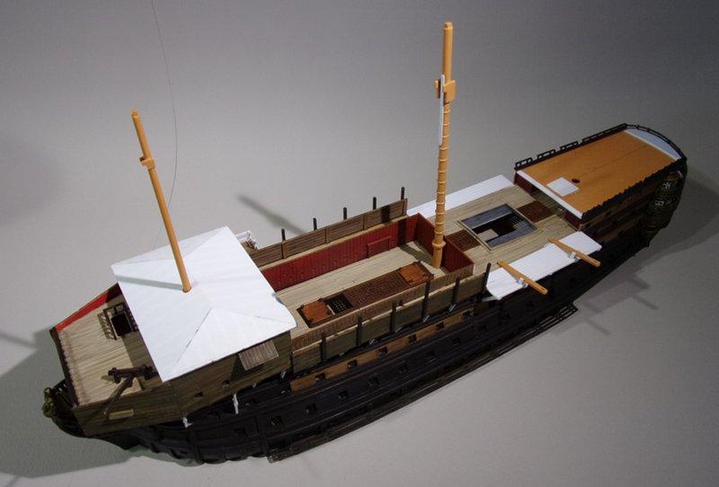 Un ponton prison anglais de la Révolution ou de l'Empire 1/200 sur base HELLER - Page 7 17070712220323099315135353