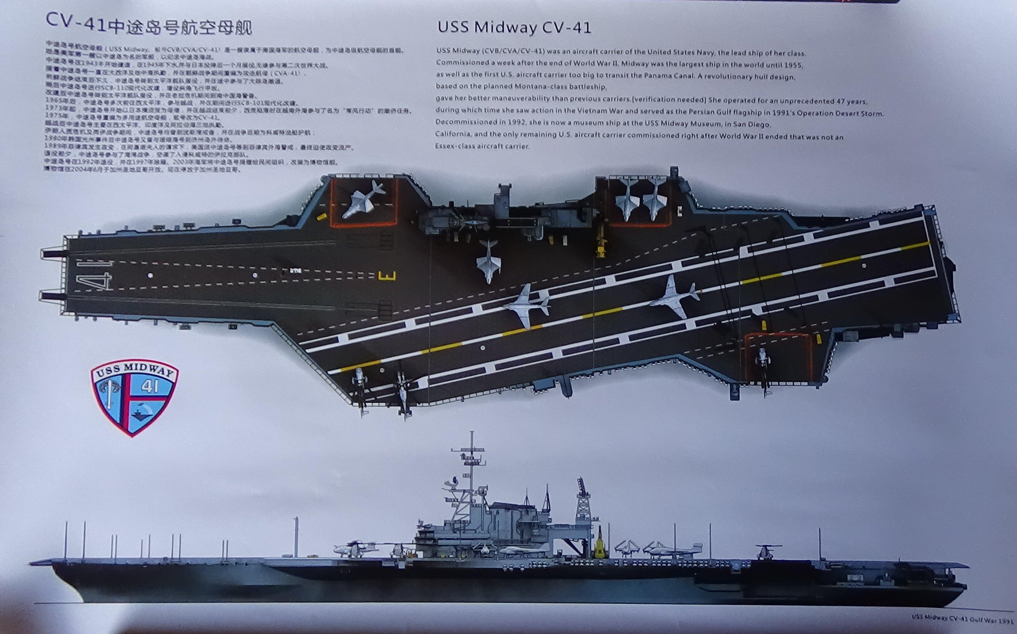 [USS Midway CVA-41] Porte avions lourd américain-700e-Orange Hobby 17071905075023134915156019