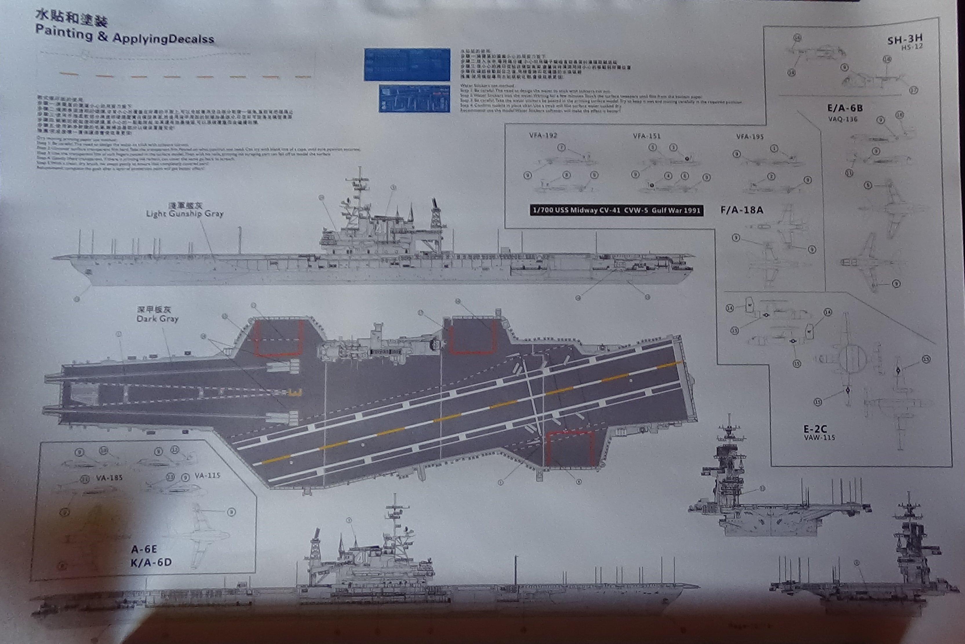 [USS Midway CVA-41] Porte avions lourd américain-700e-Orange Hobby 17071905075823134915156020