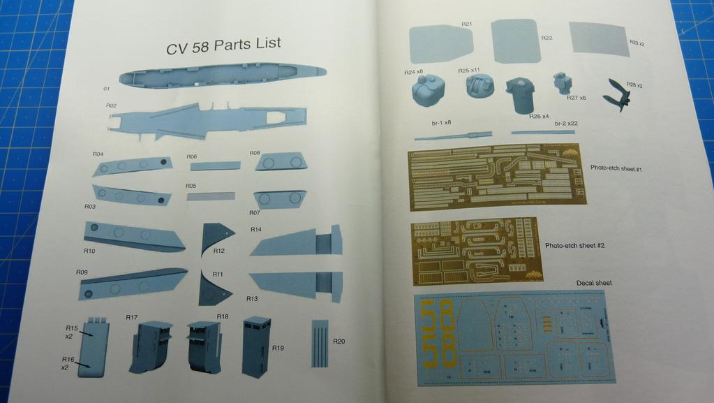 [Blue Ridge] Porte-avions USS United States CV-58, kit résine, 1-700e 17071911570423134915157353