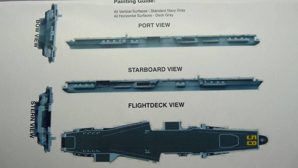 [Blue Ridge] Porte-avions USS United States CV-58, kit résine, 1-700e 17071911593023134915157386