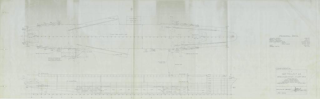 [Blue Ridge] Porte-avions USS United States CV-58, kit résine, 1-700e 17072012001123134915157396