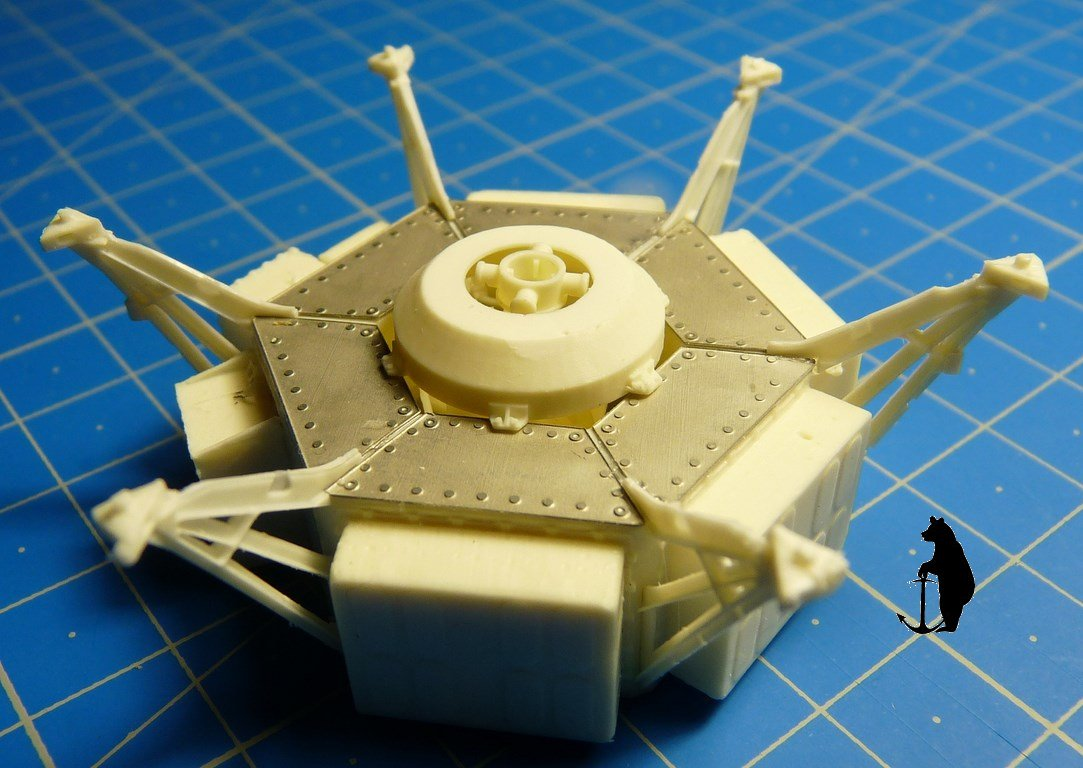 Crash-test planétaire : la sonde lunaire Ranger 8 au 1/24e 17072103213823134915160116