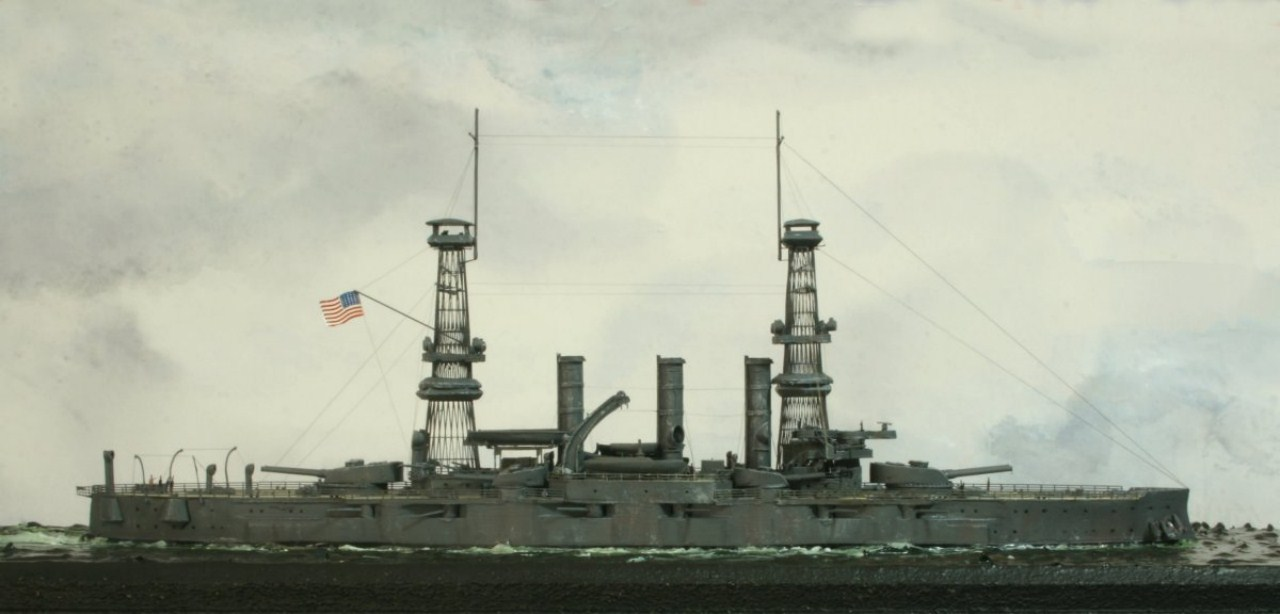 USS Vermont BB-20 (état de 1909) au 1/700e de Niko Models - Page 2 17072412370623134915164924