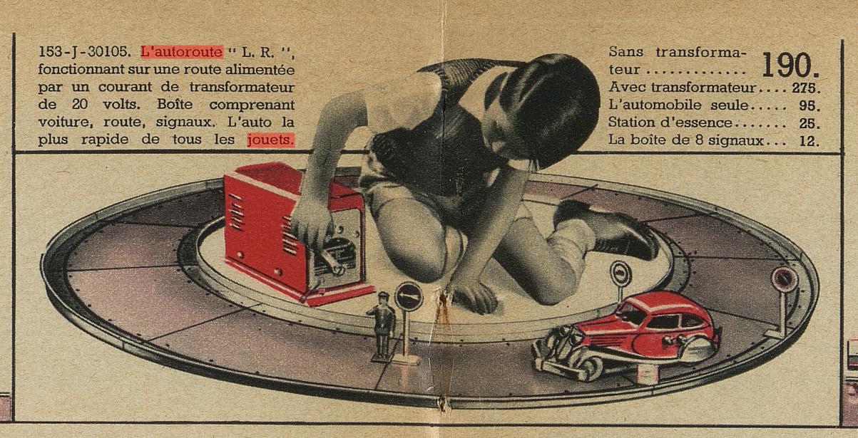 LR autoroute catalogue au Printemps Noël 1937