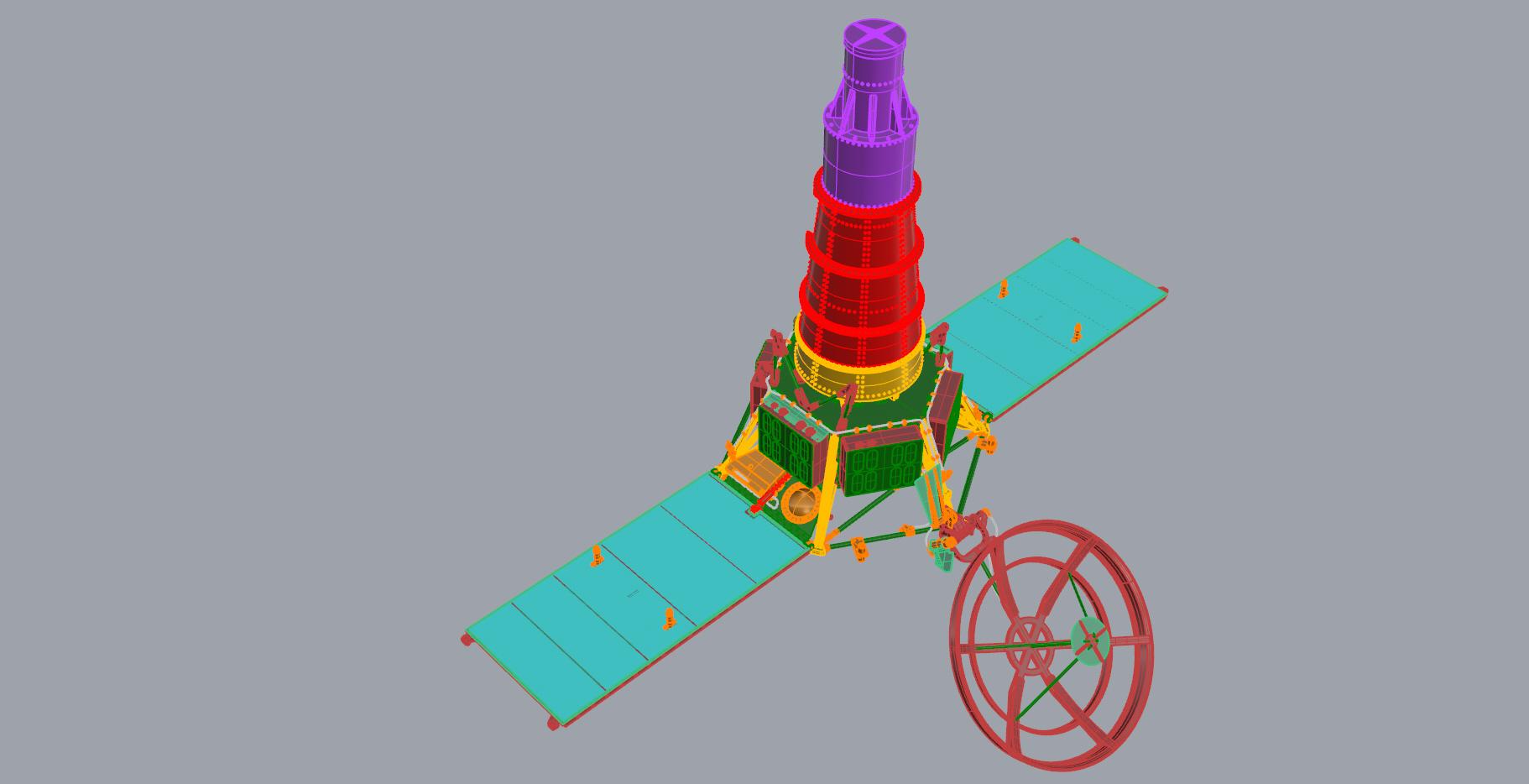 Crash-test planétaire : la sonde lunaire Ranger 8 au 1/24e 17072612440123134915170983