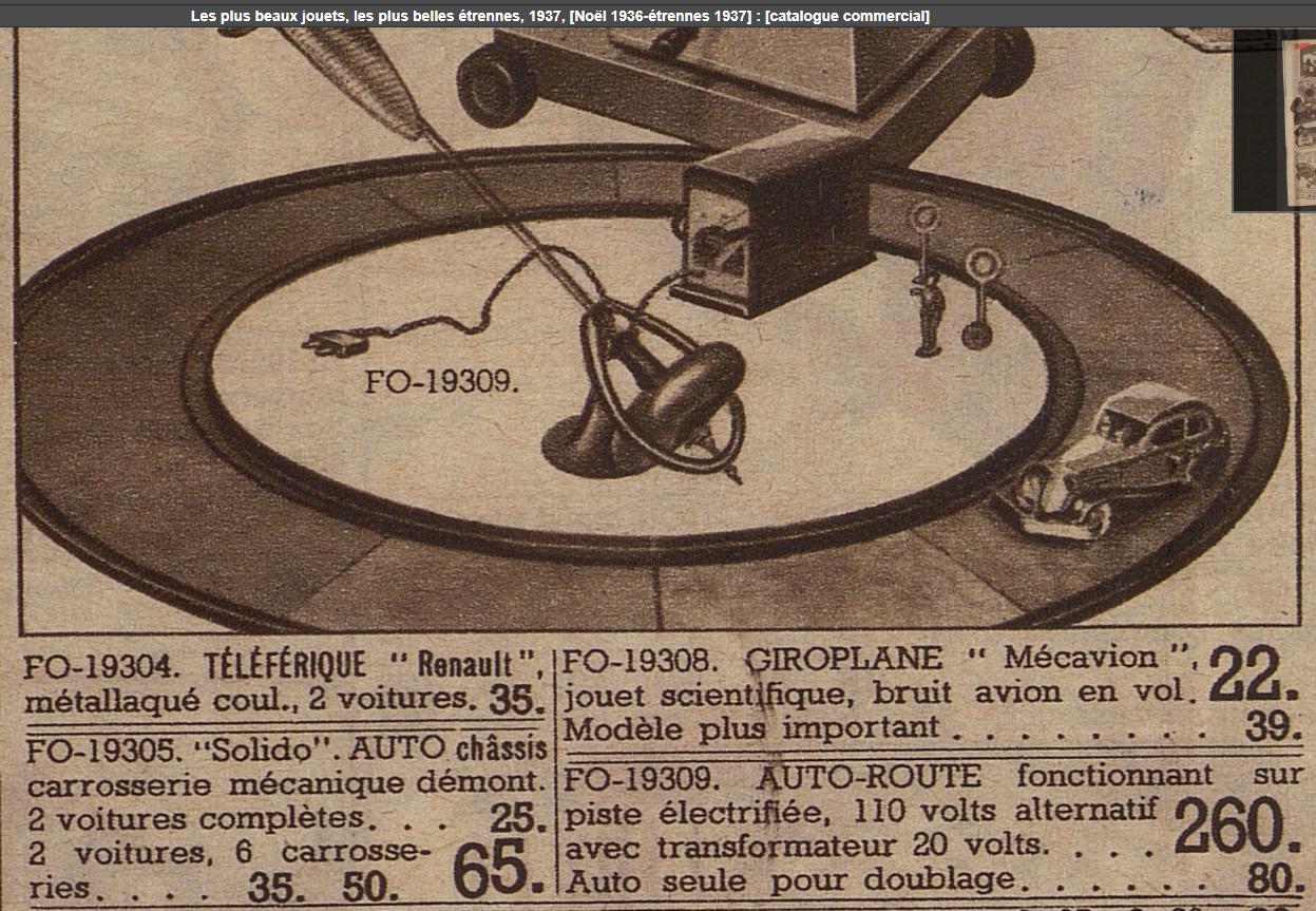 LR autoroute catalogue Au Bon Marché Noël 1936