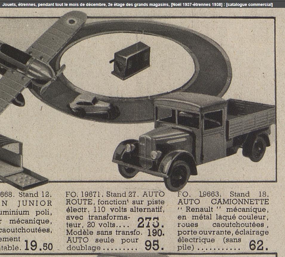 LR autoroute catalogue Au Bon Marché Noël 1937
