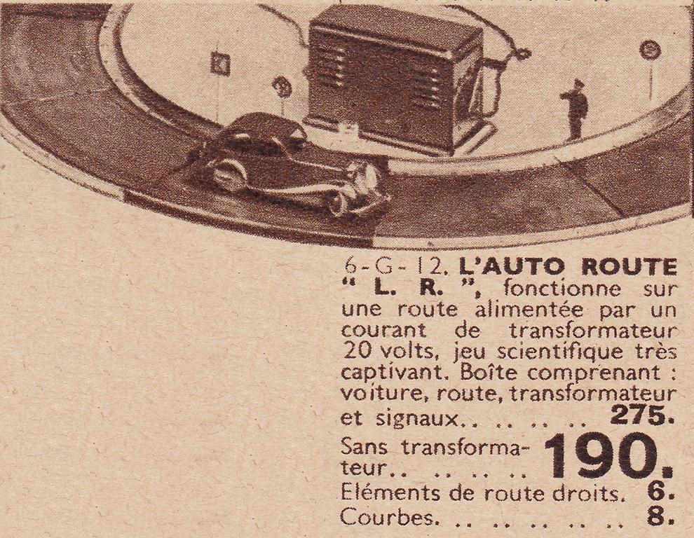 LR autoroute catalogue Jouets Decré Nantes 1937 page 6 (Copier)