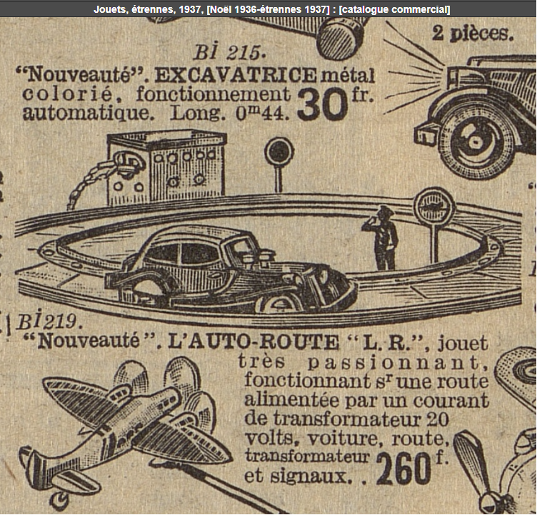 LR autoroute pub Samaritaine Noël 1936