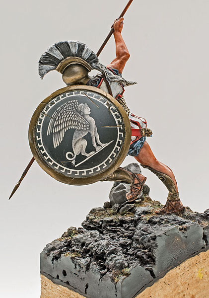 Bouclier hoplite WIP - Medieval Forge Miniature 75 mm 17080405551214703415199842