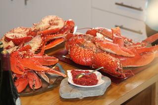 Le plat de homards d'Armelle et Jean-Yves