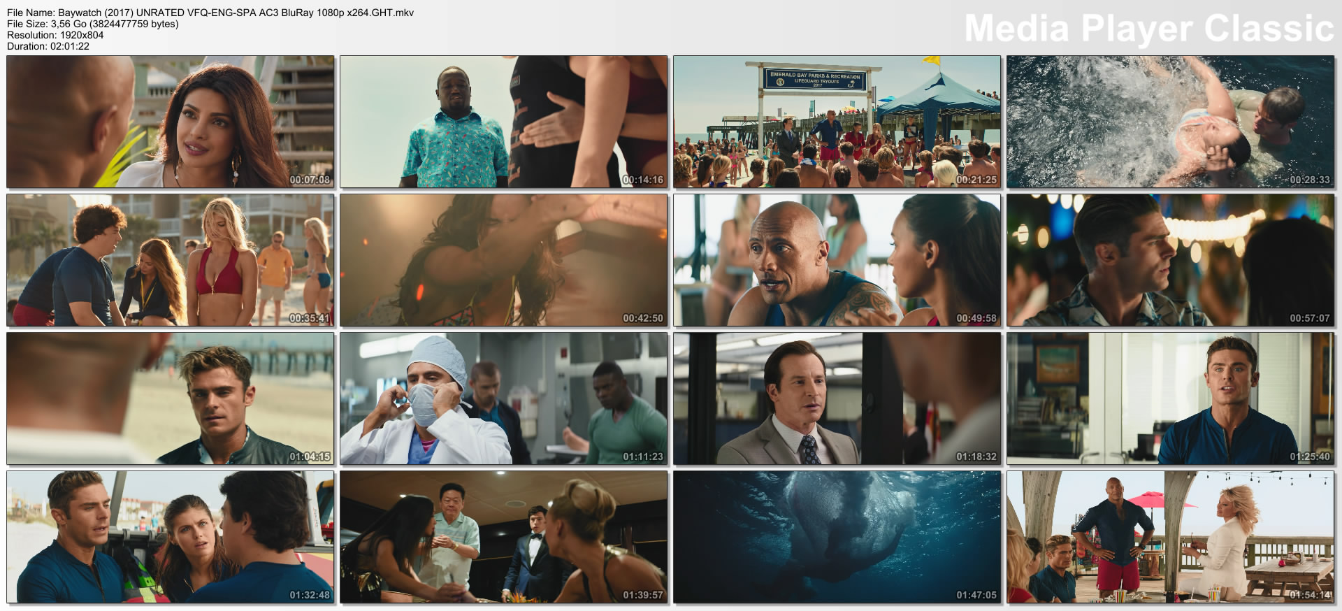 Baywatch (2017) UNRATED VFQ-ENG-SPA AC3 BluRay 1080p x264.GHT