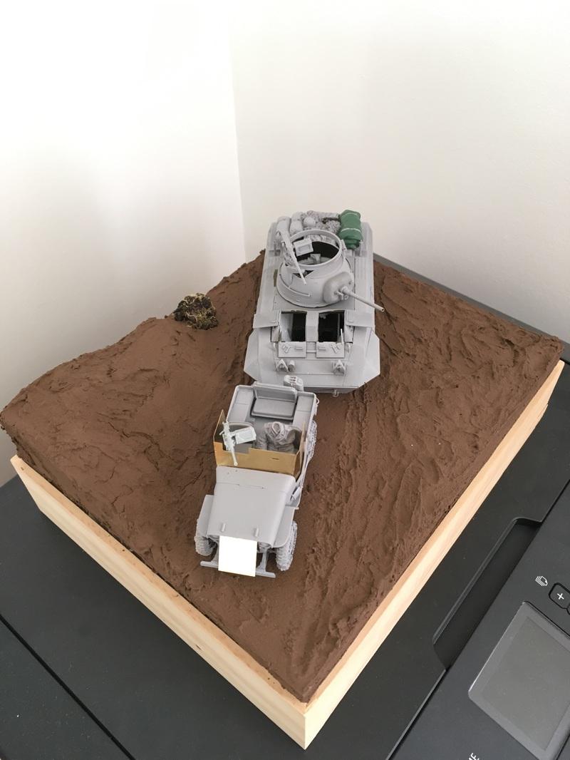 Ardennes Hiver 1944-1945 - M8 Tamiya + Jeep blindée Dragon - 1/35 17090401390521232415254283
