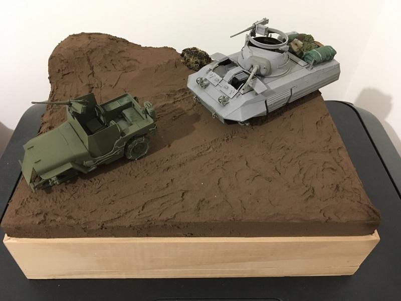 Ardennes Hiver 1944-1945 - M8 Tamiya + Jeep blindée Dragon - 1/35 17091311040221232415267062