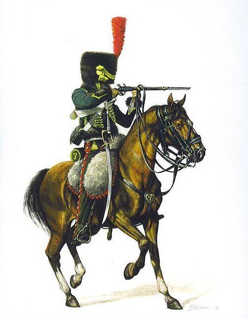 Hussard du 9ème Régiment en tenue de route après 1812 1709170835463593415273673