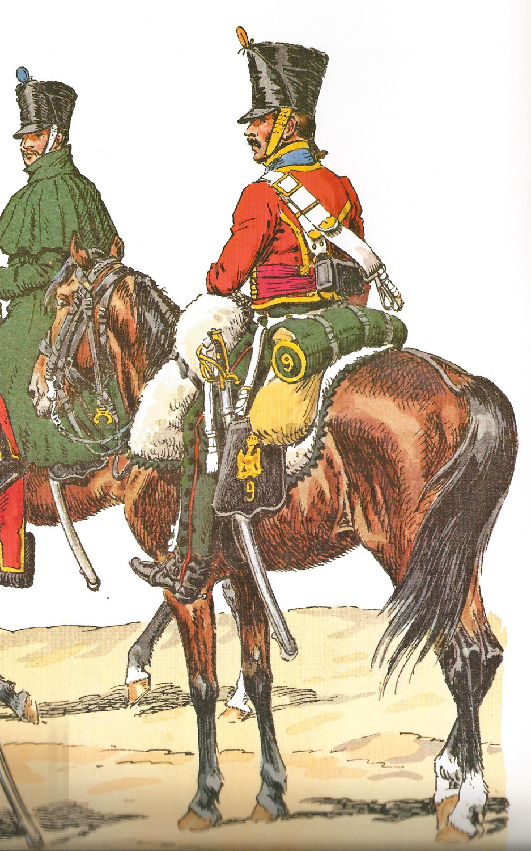 Hussard du 9ème Régiment en tenue de route après 1812 1709170835503593415273674