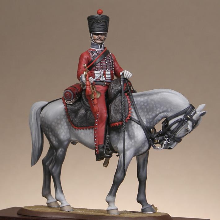 Hussard du 9ème Régiment en tenue de route après 1812 1709170835533593415273676