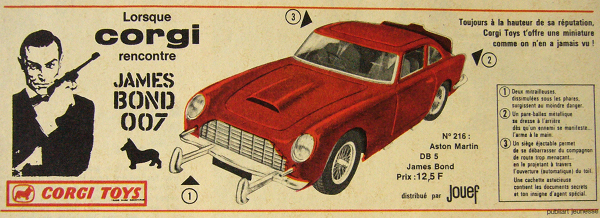 Publicité Aston-Martin DB5 James Bond 007 Corgi-Toys