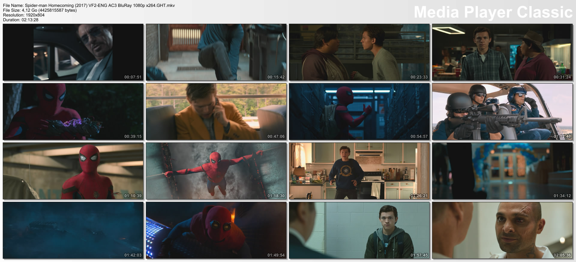 Spider-man Homecoming (2017) VF2-ENG AC3 BluRay 1080p x264.GHT