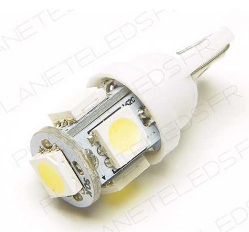 ampoule-t10-5-leds-smd5050-blanches-first