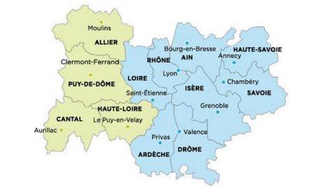 Geographie - Région 84 AURA