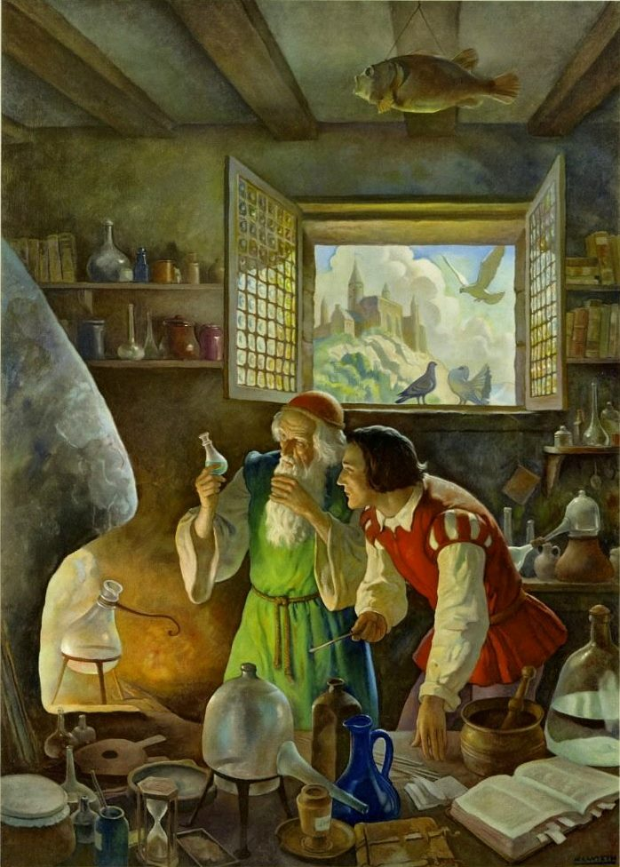 L'Alchimiste sous le regard des peintres 17111206264619075515366511